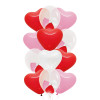 "12pcs 12"" Triplet Balloon Cluster - Heart Latex (12pcs)"