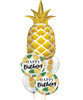 [Pineapple] Birthday Golden Pineapple Balloons Bouquet