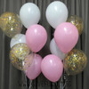 (Create Your Own Helium Bouquet) 12'' Metallic Confetti Balloons Cluster - Fashion Color