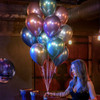 """(Create Your Own Helium Bouquet) 11"""" Chrome Latex Balloons Cluster"""