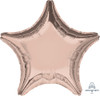 "19"" Star Foil Balloon - Rose Gold"
