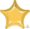 "19"" Star Foil Balloon - Metallic Gold"