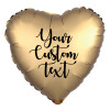 """18"""" Personalised Satin Luxe Heart Foil Balloon - Gold Sateen"""
