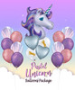 Pastel Unicorn Balloons Package
