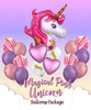 Magical Pink Unicorn Balloons Package