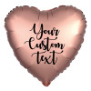 "18"" Personalised Satin Luxe Heart Foil Balloon - Platinum"