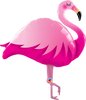 Pink Flamingo Foil Balloon (46inch)
