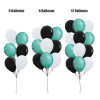 12'' Chrome Balloons Cluster - Fashion Color