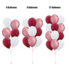 12'' Chrome Balloons Cluster - Metallic Color