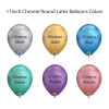 "11"" Chrome Round Latex Balloons Color chart"