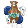 [Baby] We Can Bearly Wait, It's a Boy Balloons Bouquet