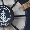 Decorative Navy Blue Wood Boat Ship Wheel (27cm x 27cm)