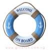 [Medium] Life Preserver Buoy Props - Rustic Blue (31cm)