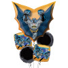 Batman Cape Shape Happy Birthday Balloons Bouquet