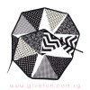 Assorted Patterns Fabric Pennants Bunting (1 meter) - Black & White