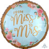Mint To Be Foil Balloon from Miss to Mrs (17inch)