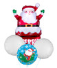 Santa In Chimney Christmas Balloons Bouquet