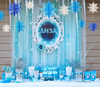 3D Large Paper Snowflakes Set (6pcs) - Matt Blue