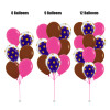12'' Transparent Gold Polka Dots Balloon In A Balloon Cluster - Fashion Color