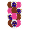12pcs 12'' Transparent Gold Polka Dots Balloon In A Balloon Cluster - Fashion Color