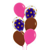 6pcs 12'' Transparent Gold Polka Dots Balloon In A Balloon Cluster - Fashion Color