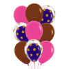 9pcs 12'' Transparent Gold Polka Dots Balloon In A Balloon Cluster - Fashion Color