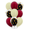 9pcs 12'' Transparent Gold Polka Dots Balloon In A Balloon Cluster - Metallic Color