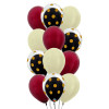 12pcs  12'' Transparent Gold Polka Dots Balloon In A Balloon Cluster - Metallic Color