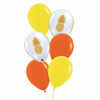 6pcs 12'' Transparent Pineapple Balloon Cluster - Fashion Color