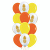 12pcs 12'' Transparent Pineapple Balloon Cluster - Fashion Color