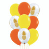 9pcs 12'' Transparent Pineapple Balloon Cluster - Fashion Color