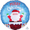 Santa In Chimney Foil Balloon (18inch)