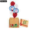 [Christmas Balloon Surprise Box] - Santa In Chimney Confetti Balloons Bouquet