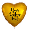 "32"" Personalised Giant Heart Foil Balloon - Metallic Gold"