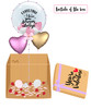 """[My Love My Valentine Balloon Surprise Box] Personalised Name I Love You Forever & Always 24"""" Crystal Clear Transparent Balloon"""