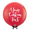 "36"" Personalised Jumbo Perfectly Round Latex Balloon - Red"