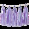 Holographic Candy Tassel Garlands DIY Kit (5 Tassels) - All Dreamy Violet