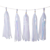 Holographic Candy Tassel Garlands DIY Kit (5 Tassels) - All Crystal White