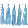 Holographic Candy Tassel Garlands DIY Kit (5 Tassels) - All Ocean Blue