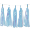 Holographic Candy Tassel Garlands DIY Kit (5 Tassels) - All Candy Blue