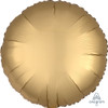 "18"" Satin Luxe Round Foil Balloon - Gold Sateen"