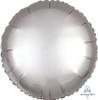 "18"" Satin Luxe Round Foil Balloon - Platinum"