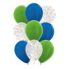 9pcs Round Confetti (1cm) Balloons Cluster - Metallic Color