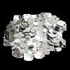 Mini Paper Round Confettis (1cm) - Metallic Silver