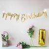 Reflective Mirror Happy Birthday Bunting (1 meter)- Gold