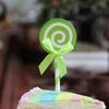 Swirl Lollipop Cupcake Toppers (6pcs) - Green Apple
