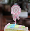 Swirl Lollipop Cupcake Toppers (6pcs) - Strawberry