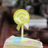 Swirl Lollipop Cupcake Toppers (6pcs) - Lemon