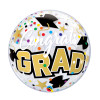 "[Ultra Clear Bubble] 22""/56cm Congrats Grad Stars & Dots Balloon"