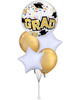 Yay Congrats Grad Star Dots and Colourful Confetti Bouquet